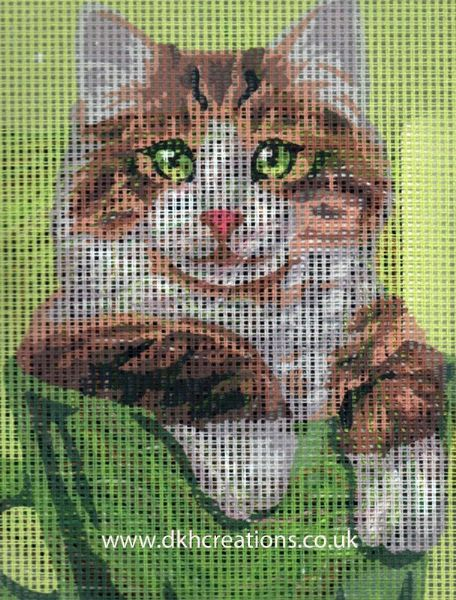 Ginger And White Cat Tapestry Kit